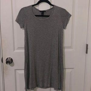 Soft grey shift dress